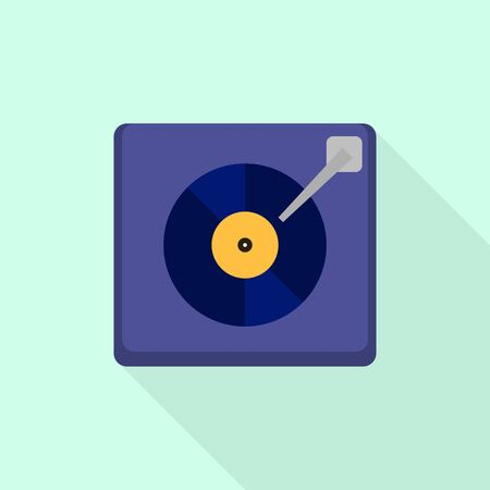Vinyl record icon. Flat illustration of vinyl record vector icon for web design