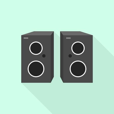 Music speakers icon. Flat illustration of music speakers vector icon for web design Ilustração