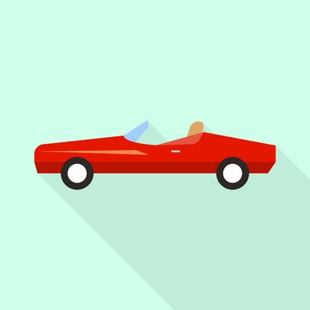 Red car icon. Flat illustration of red car vector icon for web design Banque d'images - 133229635
