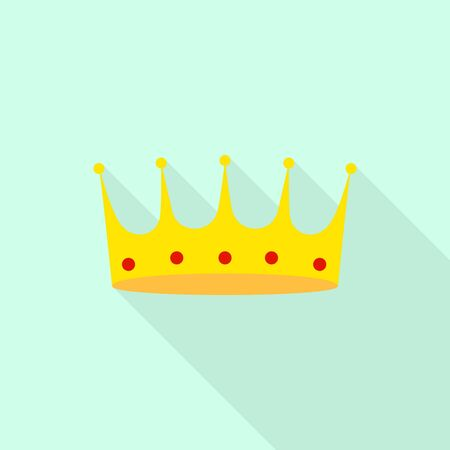 King crown icon. Flat illustration of king crown vector icon for web design