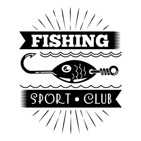 Fishing sport club simple style