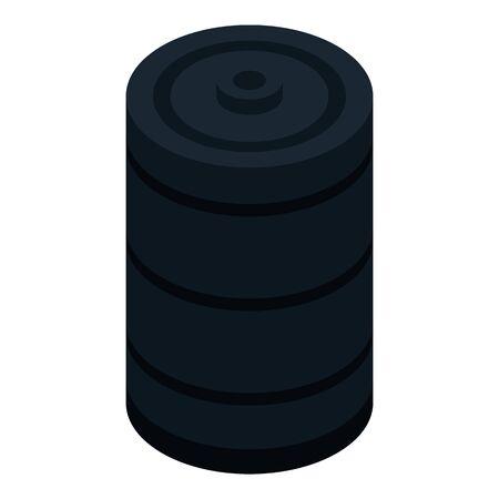 Petrol oil barrel icon, isometric style