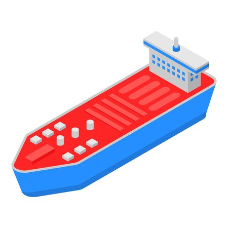 Petrol cargo ship icon. Isometric of petrol cargo ship vector icon for web design isolated on white background