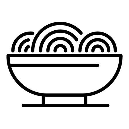 Restaurant ramen icon, outline style