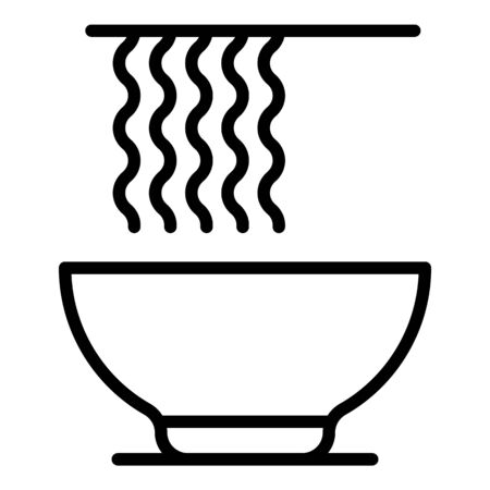 Soup ramen icon, outline style