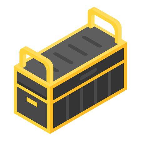 Tools box icon, isometric style Illustration