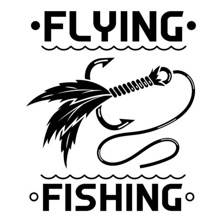 Flying fishing, simple style