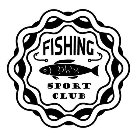 Fishing sport club, simple style