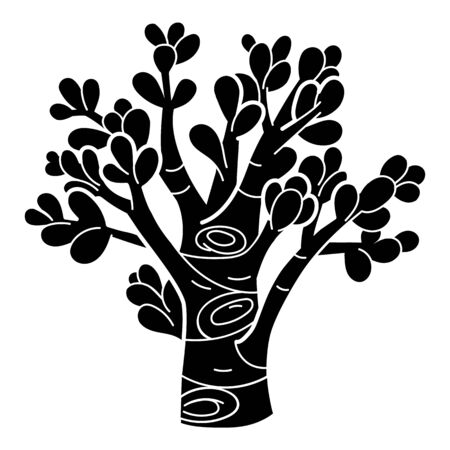 Succulent tree icon. Simple illustration of succulent tree vector icon for web design isolated on white background Иллюстрация