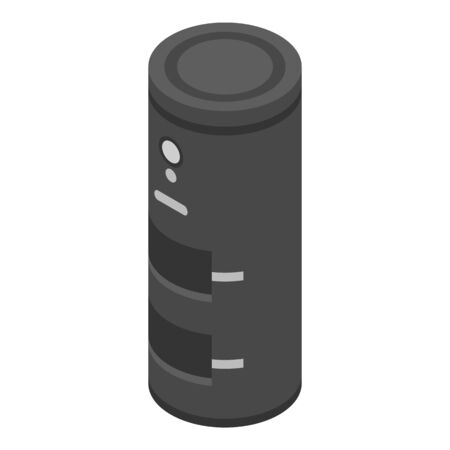 Wood fire boiler icon, isometric style