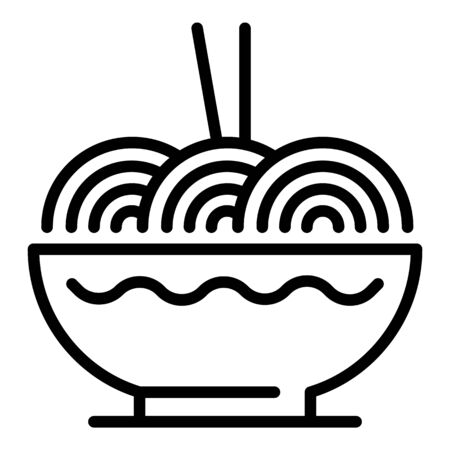 Japanese ramen icon, outline style