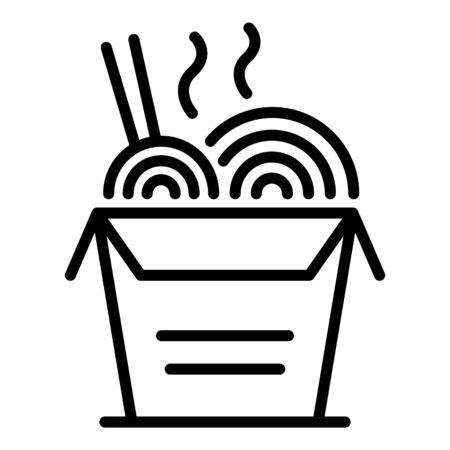 Ramen box icon, outline style