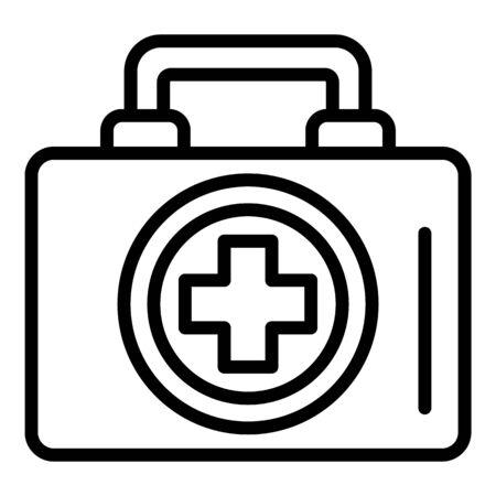 Erste-Hilfe-Set-Symbol, Umrissstil