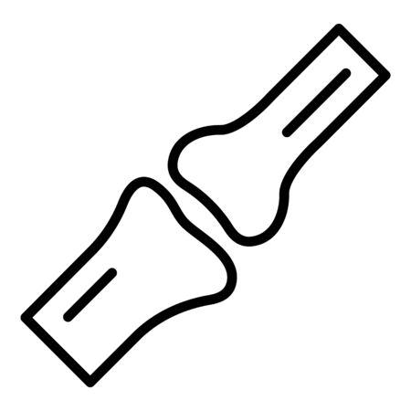 Leg bones icon, outline style