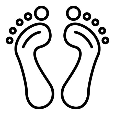 Foot print icon, outline style
