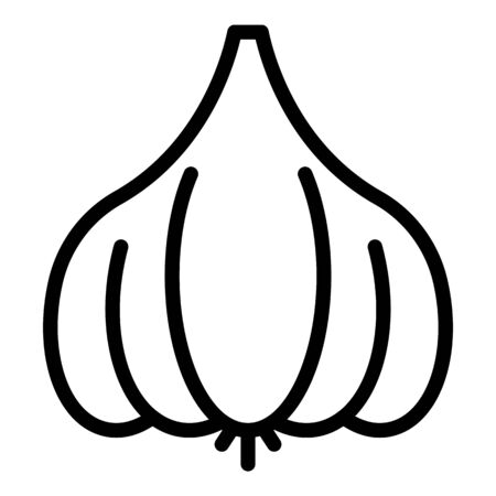 Garlic icon, outline style