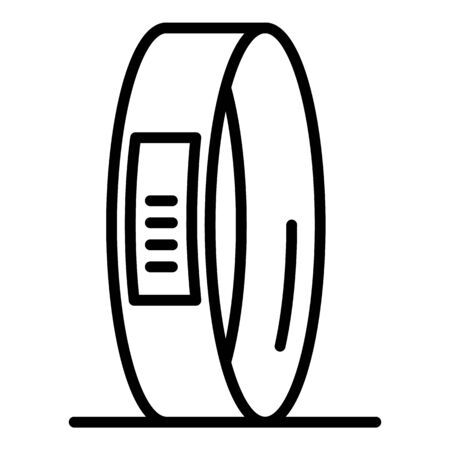 Digital smartwatch icon, outline style Illustration