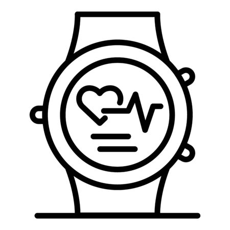 Medical smartwatch icon, outline style