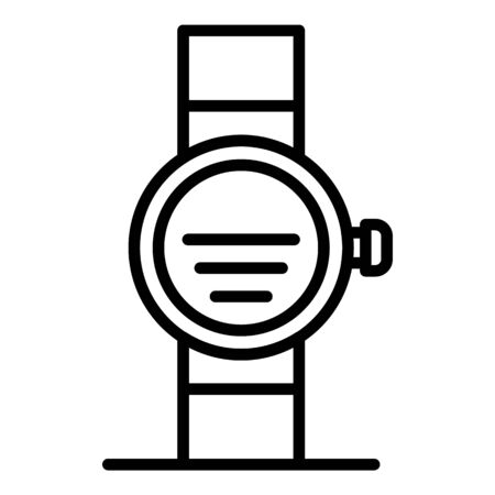 Gps smartwatch icon, outline style