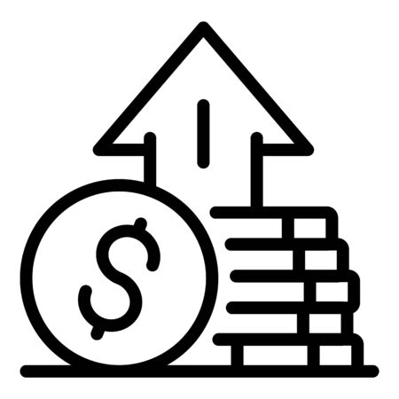 Money startup icon, outline style