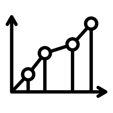Startup graph icon, outline style Ilustracja