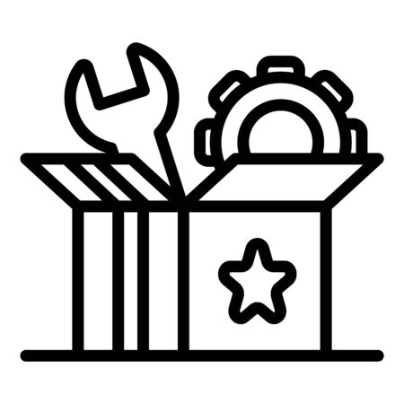 Startup carton box icon, outline style