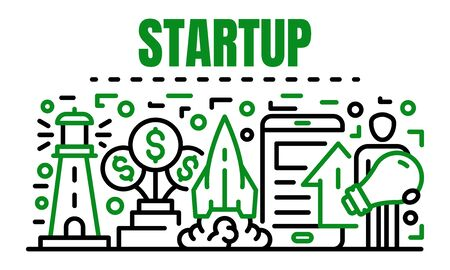 Startup banner, outline style