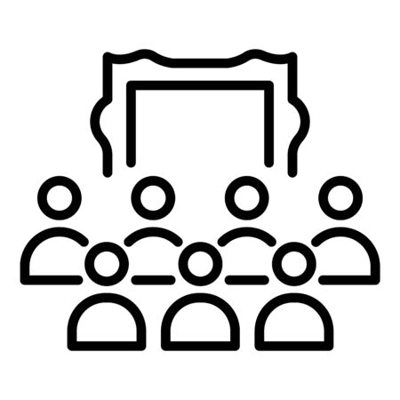 Exhibition center icon, outline style 向量圖像