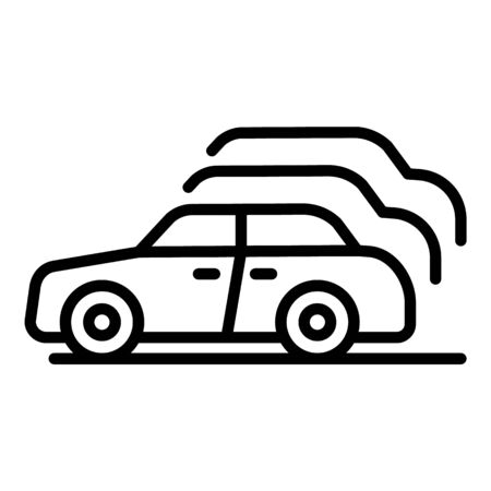 Car exhibition icon, outline style