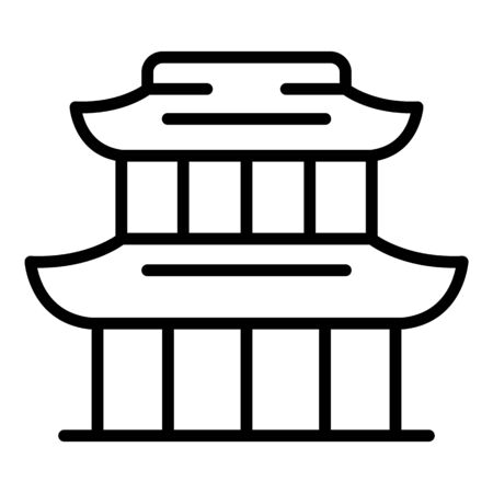 China exhibition building icon, outline style