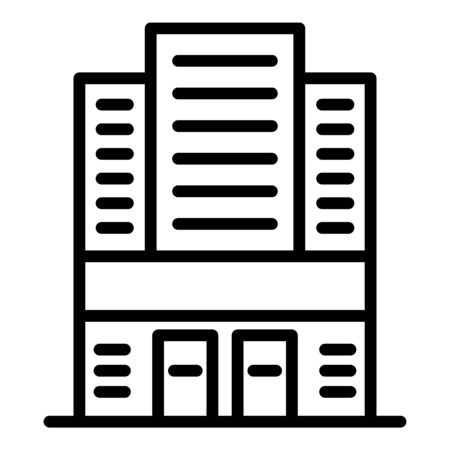 Expo building icon, outline style 向量圖像