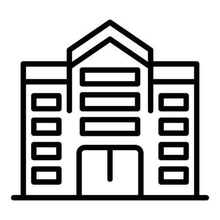 Office city building icon, outline style