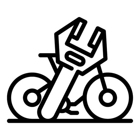 Repair rent bike icon, outline style