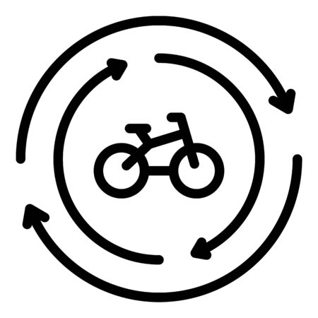 Rent bike icon, outline style