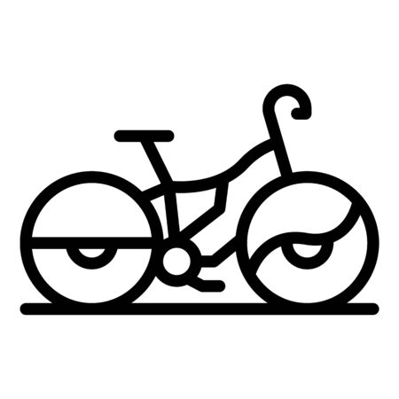 Protected rent bike icon, outline style