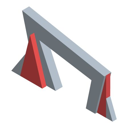 Polygonal arch icon, isometric style