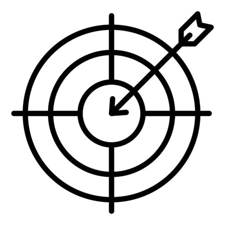 Arrow in target icon, outline style