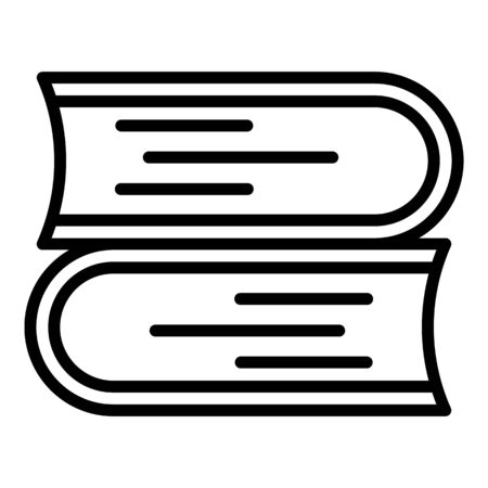 Stack of books icon, outline style