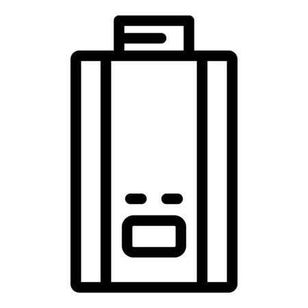 Gas boiler icon, outline style