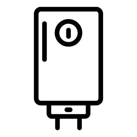 Electric boiler icon, outline style