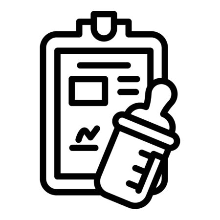 Baby food schedule icon, outline style