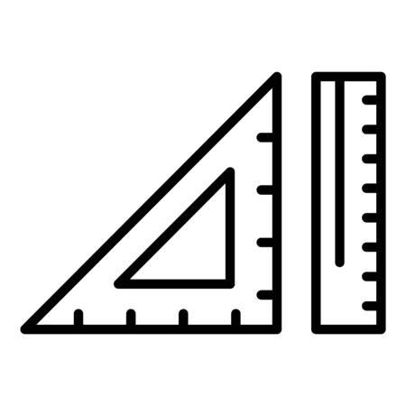 Rulers icon, outline style