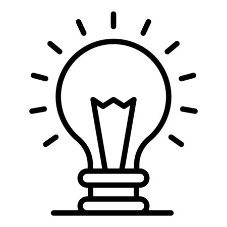 Light bulb icon, outline style