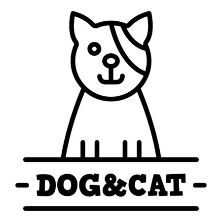 Cat veterinary, outline style