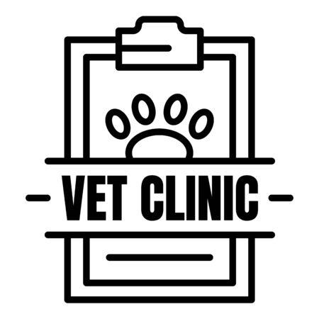 Veterinary clinic, outline style Ilustracja