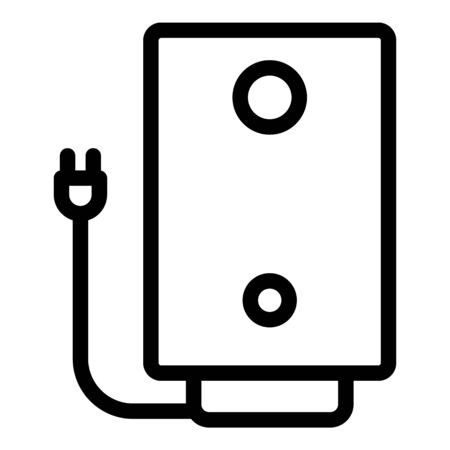 Electric boiler with plug icon, outline style