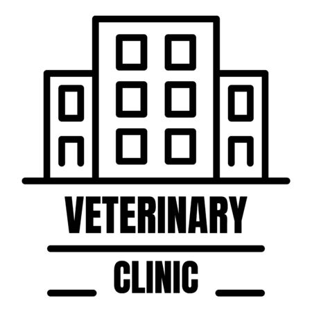 Veterinary clinic outline style