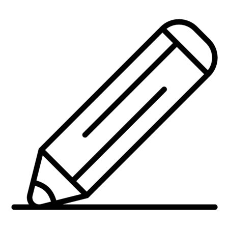 Pencil icon, outline style