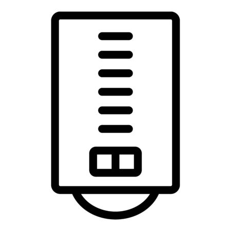 Boiler icon, outline style