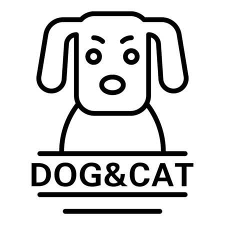 Dog veterinary outline style